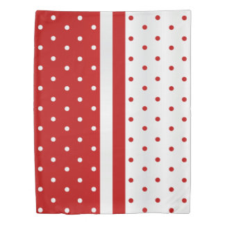 Red and White Polka Dots Duvet Cover