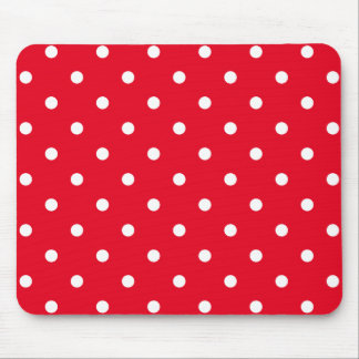 Red and White Polka Dots Mouse Pad