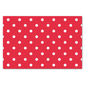 Red and White Polka Dots Tissue Paper