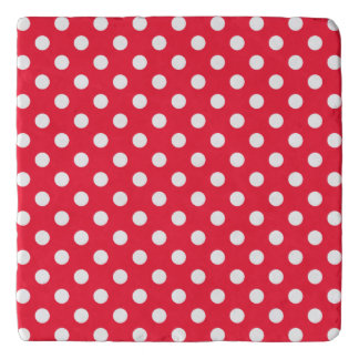 Red and White Polka Dots Trivet