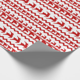 Red and White Reindeer Wrapping Paper