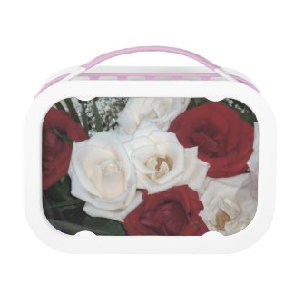 Red And White Roses Lunch Box