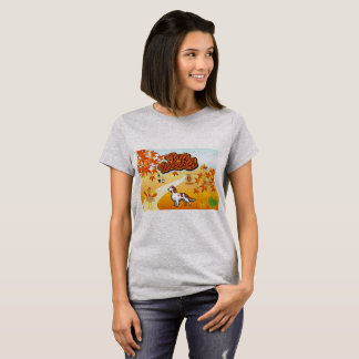 Red and White Setter Happy Thanksgiving T-Shirt