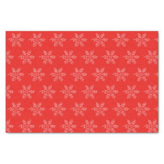 Red and White Snowflake Tissue Tissue Paper