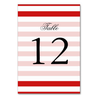Red and White Stripe Pattern Card
