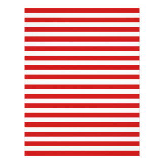 Red and White Stripe Pattern Customized Letterhead