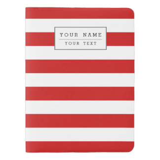 Red and White Stripe Pattern Extra Large Moleskine Notebook