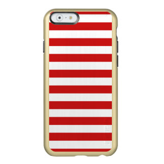 Red and White Stripe Pattern Incipio Feather® Shine iPhone 6 Case