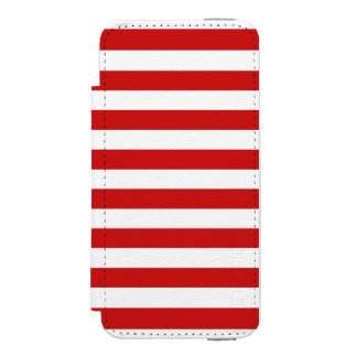 Red and White Stripe Pattern Incipio Watson™ iPhone 5 Wallet Case
