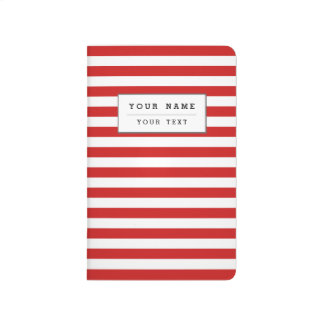Red and White Stripe Pattern Journal