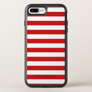 Red and White Stripe Pattern OtterBox Symmetry iPhone 8 Plus/7 Plus Case