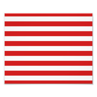 Red and White Stripe Pattern Photo Print