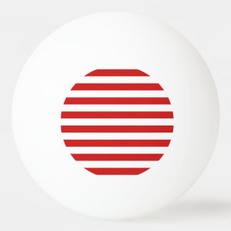 Red and White Stripe Pattern Ping Pong Ball
