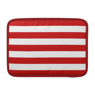 Red and White Stripe Pattern Sleeve For MacBook Air