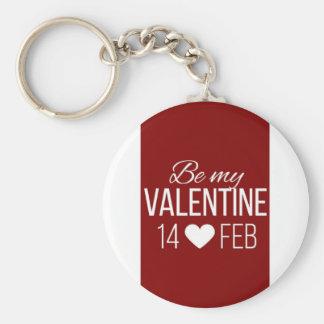 Red and white striped Valentine's day design incor Keychain