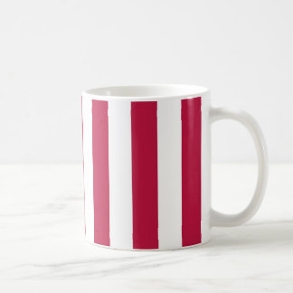 Red and White Stripes Coffee Mug