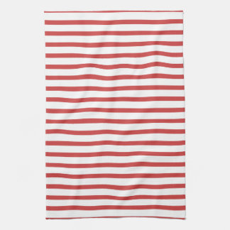 Red and White Stripes Kitchen Towel
