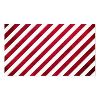 Red And White Stripes On Fabric Texture STaylor Business Card