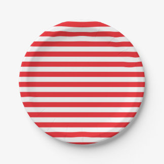 Red and White Stripes Paper Plates
