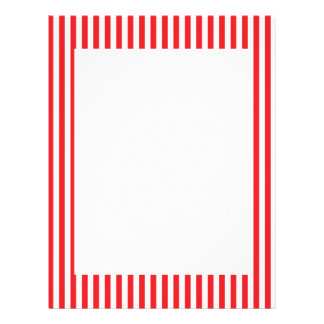 Red and White Stripes Pattern Letterhead