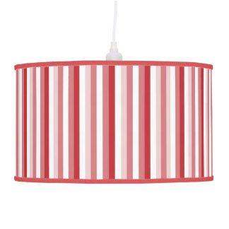 Red and White Stripes Pendant Lamp Shade