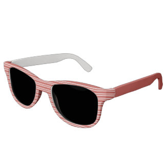 Red and White Stripes - Sunglasses