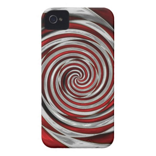 Red and white swirl candy Blackberry Case