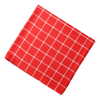 Red and White Tartan Bandana