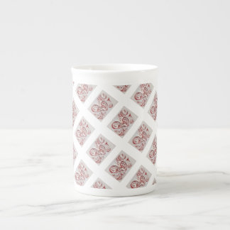 Red and White Tea Cup