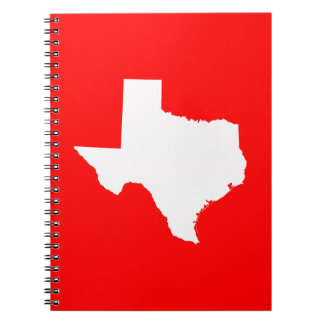Red and White Texas Spiral Notebook