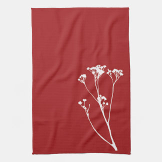 Red and White Tree Kitchen Towel