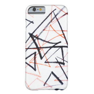 red and white triangles abstract art iPhone case