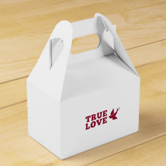 Red And White True Love And Bird Favor Box