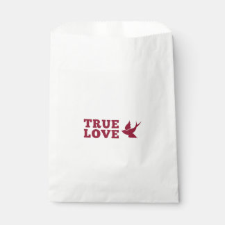 Red And White True Love And Bird Favour Bag