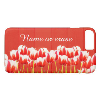Red and white tulips Case-Mate iPhone case