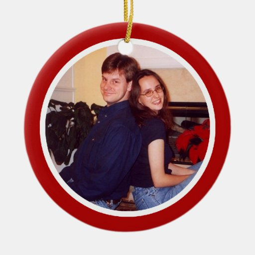 Red and White - Two Sided Christmas Tree Ornaments