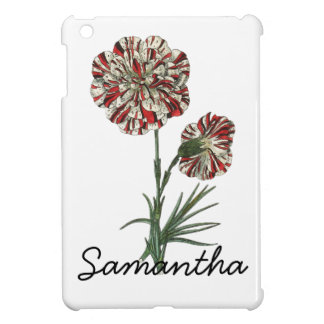 Red and White Vintage Flower Cover For The iPad Mini