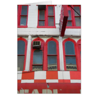 Red and White Windows, Soho Note Card