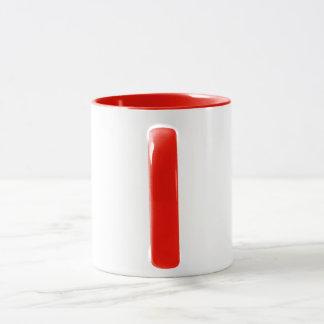 Red and White 'WPB' Coffee Mug