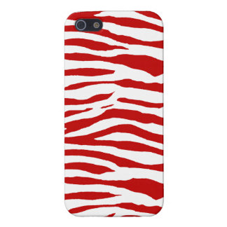 Red and White Zebra Stripes iPhone 5 Case