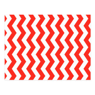 Red and White Zig Zag Postcard