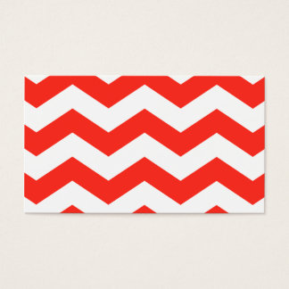 Red and White Zig Zags Business Card