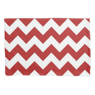 Red and White Zigzag Pillowcase
