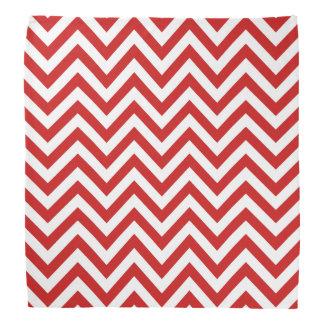 Red and White Zigzag Stripes Chevron Pattern Bandana