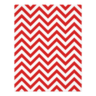 Red and White Zigzag Stripes Chevron Pattern Flyer