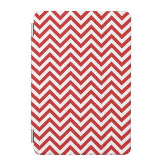 Red and White Zigzag Stripes Chevron Pattern iPad Mini Cover