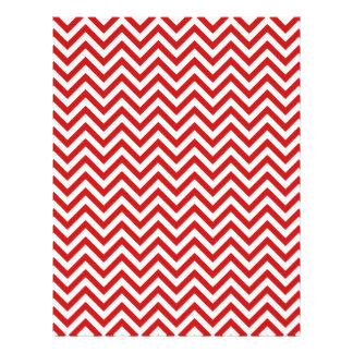 Red and White Zigzag Stripes Chevron Pattern Personalized Letterhead