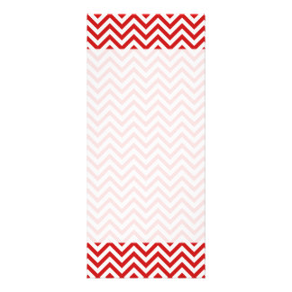 Red and White Zigzag Stripes Chevron Pattern Rack Card