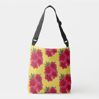 Red And Yellow Azalea Flower Crossbody Bag