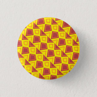 Red and yellow badge 1 inch round button